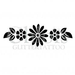 Bracelet de fleurs n° 3029 pochoir pour tatouage temporaire