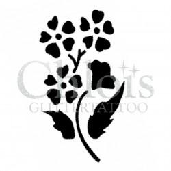 Fleur de coeurs n° 3030 pochoir pour tatouage temporaire