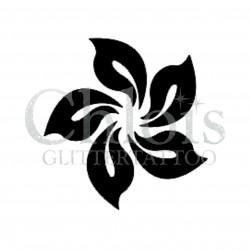 Fleur n° 3031 pochoir pour tatouage temporaire