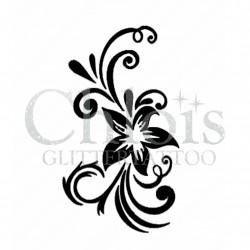 Fleur n° 3032 pochoir pour tatouage temporaire