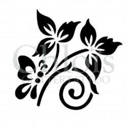 Fleur n° 3033 pochoir pour tatouage temporaire