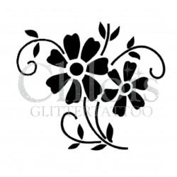 Fleur Anna n° 3034 pochoir pour tatouage temporaire