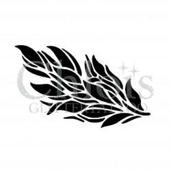 Plume n° 3036 pochoir pour tatouage temporaire