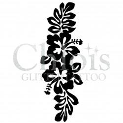 Hibiscus n° 3037 pochoir pour tatouage temporaire