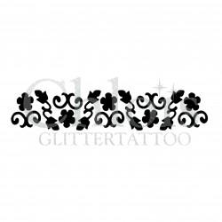 Bracelet de fleurs n° 3038 pochoir pour tatouage temporaire