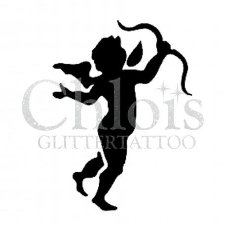 Cupidon n°3500 pochoir pour tatouage temporaire