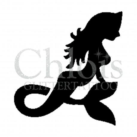 Sirène n°3508 pochoir pour tatouage temporaire