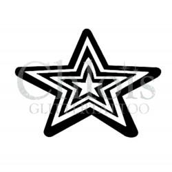 Etoile n°4002 - pochoir tatouage éphémère