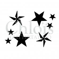 Duo d'étoile n°4003 - pochoir tatouage éphémère