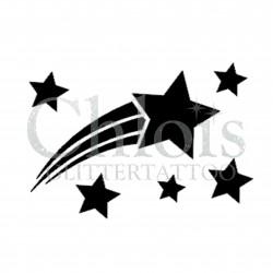 Etoile filante n°4004 - pochoir tatouage éphémère
