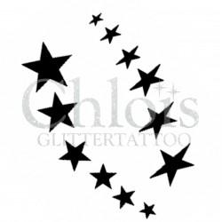 Pluie d'étoiles n°4006 - pochoir tatouage éphémère