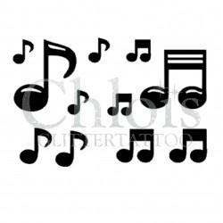 Notes de musique n°4009 - pochoir tatouage éphémère