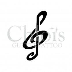 Clé de Sol n°4011 - pochoir tatouage éphémère