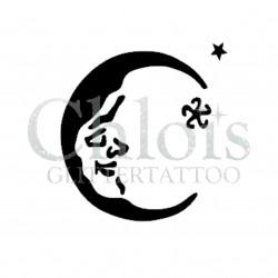 Lune n°4012 - pochoir tatouage éphémère