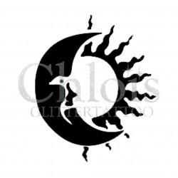 Lune Soleil n°4013 - pochoir tatouage éphémère