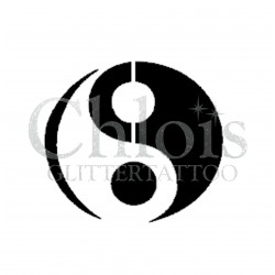 Ying & Yang n°4014 - pochoir tatouage éphémère