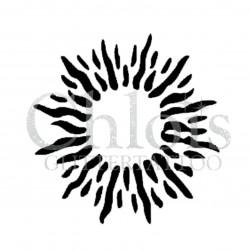 Soleil n°4019 - pochoir tatouage éphémère