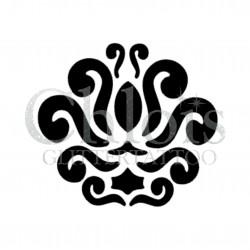 Curly Ornament n°4021 - pochoir tatouage éphémère
