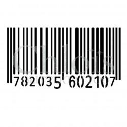 Code Barre n°4023 - pochoir tatouage éphémère