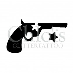 Pistolet n°4027 - pochoir tatouage éphémère