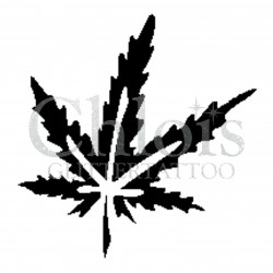 Marijuanas n°4029 - pochoir tatouage éphémère