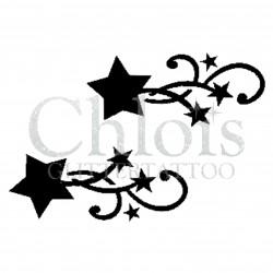 Duo d'étoiles n°4033 - pochoir tatouage éphémère