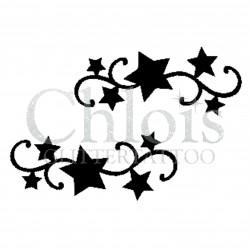 Duo d'étoiles n°4034 - pochoir tatouage éphémère