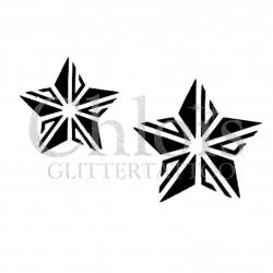 Duo d'étoiles n°4036 - pochoir tatouage éphémère