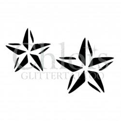 Duo d'étoiles2 n°4037 - pochoir tatouage éphémère