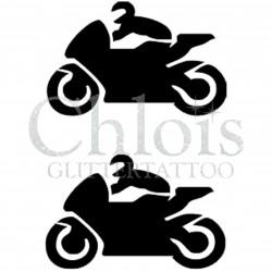 Motos n°4038 - pochoir tatouage éphémère