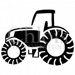 Tracteur n°4040 - pochoir tatouage éphémère