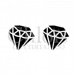 Diamant n°4041 - pochoir tatouage éphémère
