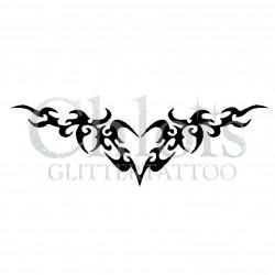 Coeur tribal n°4800 tatouage temporaire
