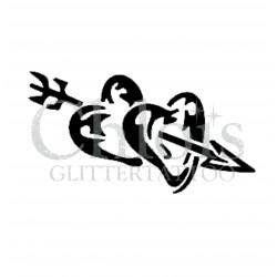 Coeurs fléchés n°4800 tatouage temporaire