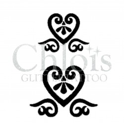 Duo de coeur n°4804 tatouage temporaire