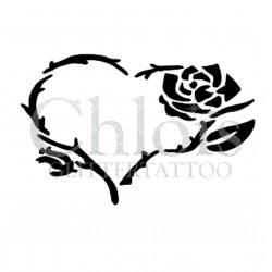 Coeur Rose n°4805 tatouage temporaire