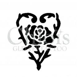 Coeur d'épines n°4808 tatouage temporaire