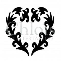 Coeur n°4810 tatouage temporaire