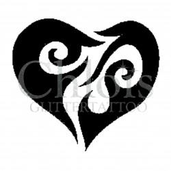 Coeur n°4812 tatouage temporaire