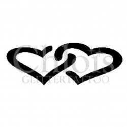 Double coeur n°4813 tatouage temporaire