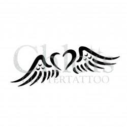 Coeur ange n°4814 tatouage temporaire