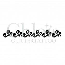 Bracelet de coeurs n°4818 tatouage temporaire