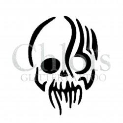 Tête de Mort tribale n°5300 pochoir adhésif pour tattoo