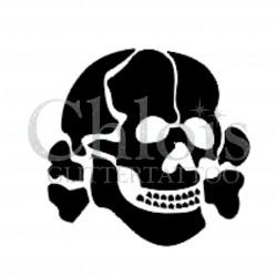 Tête de Mort n°5301 pochoir adhésif pour tattoo