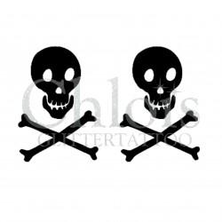 Duo Tête de Mort n°5302 pochoir adhésif pour tattoo