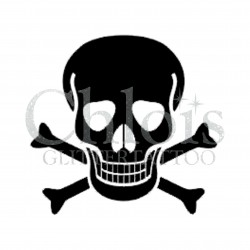 Tête de Mort n°5303 pochoir adhésif pour tattoo