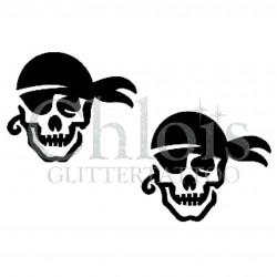 Pirate skull n°5304 pochoir adhésif pour tattoo