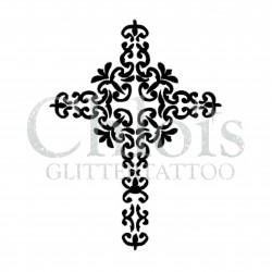 Croix n°6700 chablon pour tatouage éphémère