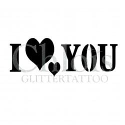 I love You n°7000 pochoir pour tatouage temporaire