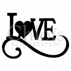 Love n°7006 pochoir tattoo éphémère